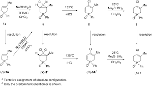 resolution of p stereogenic p heterocycles via the formation of