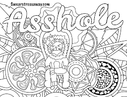 swear word coloring page coloring page