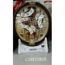 seiko clocks seiko melodies in motion swarovski crystals wall clock
