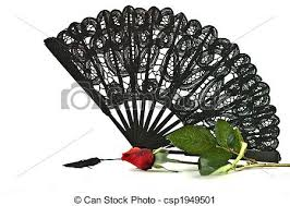 black lace fan black lace fan black lace fan with stock