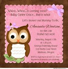 pink and brown baby shower adorable owl baby shower cards pink birdie whoo striped