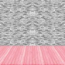 wood floor pink pastel colour perspective on brick wall gray col