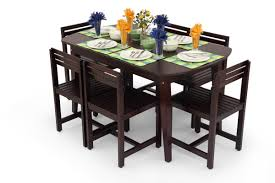 buy large dining table set online 6 seater wooden dining set