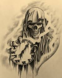 sand clock tattoo designs the reaper by 814ck5t4r deviantart com on deviantart art