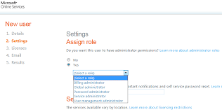 reset microsoft online services password account roles in office 365 my central admin