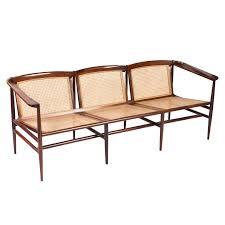 brazilian modern rosewood and cane sofa by joaquim tenreiro for