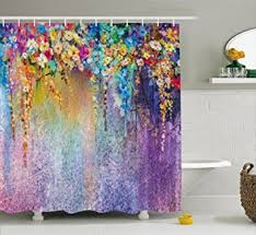 Bathroom Decor Shower Curtains Watercolor Flower Home Decor Shower Curtain By