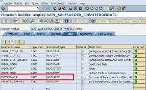 sales order table in sap create sales order bapi salesorder createfromdat2 with bapi extension