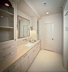 beautiful monochromatic bathroom with light gray walls paint color