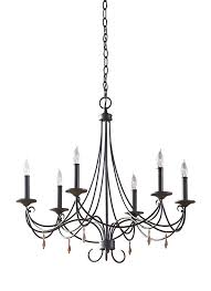 f2746 6ri 6 light single tier chandelier rustic iron