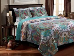 turquoise quilted coverlet nirvana quilt set by greenland at bedding com