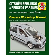 peugeot partner teepee and van b9 ii 1 6 diesel jun 2008 16 haynes