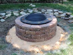 Home Made Firepit Pit With Rocks