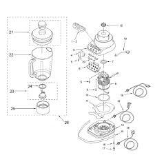 Kitchenaid Toaster Oven Parts List Kitchenaid Ksb5 Blender Diagram Parts Kitchenaid Blender Parts