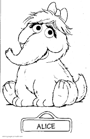 alice sesame street coloring pages for free