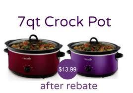 crockpot black friday sale kohl u0027s crock pot 7 qt slow cooker 13 99 after rebate ftm