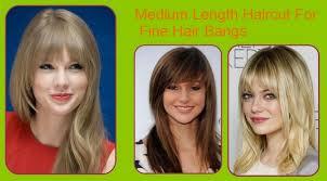length haircut for fine hair bangs