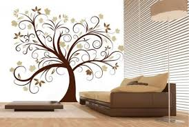 Amazing Tree Modern Wall Decor Ideas Brown Sofa Olpos Design DMA