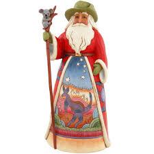 santa home decor items seasonal home decor gifts bronner s australian santa jim shore figure