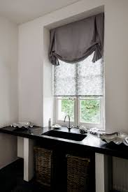 Powder Room Reno Try Tulip Roman Shades For A Decorative Touch In The Powder Room