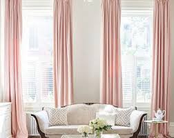 Light Pink Curtains Pastel Curtain Etsy