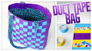 diy duct tape tote bag do it gurl youtube