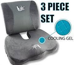 amazon com set cool gel memory foam seat cushion with rain cover