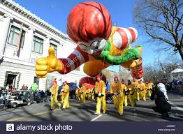 ronald mcdonald balloons fly in the 87th annual thanksgiving day