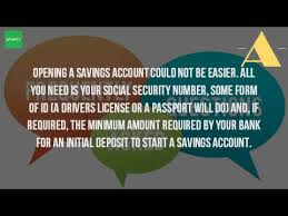 can you open a savings account