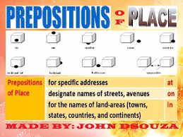 prepositions of place lesson plan chart rules lists rubrics usage