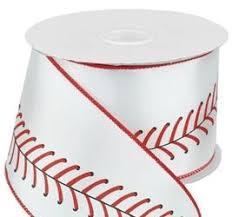 baseball ribbon baseball ribbon w stitching sports ribbon 2 5 x 10 yd