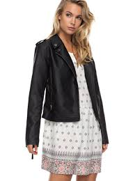 biker jacket sale midnight ride faux leather biker jacket erjjk03178 roxy