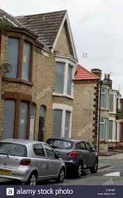 houses for sell in webster road liverpool uk stock photo