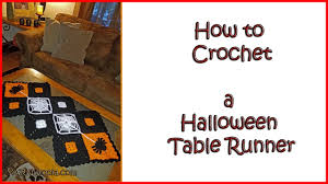 halloween table runners how to crochet a halloween table runner youtube