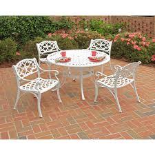 home styles nantucket kitchen island home styles 42 in biscayne white 5 piece round patio dining set