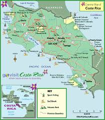 map all costa rica all inclusive resorts go visit costa rica