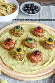 creepy monster eyeball halloween appetizers the butter half