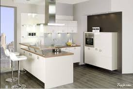 cozy small kitchen design with mini bar and stools decoration