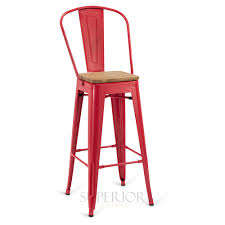 Bar Stool With Backrest Steel Eiffel Restaurant Bar Stool With Arched Metal Backrest