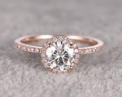 Wedding Rings Rose Gold by Rose Gold Engagement Rings Vintage Wedding Promise Diamond