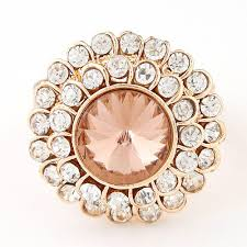 big rings online images Fine jewelry punk big round imitated diamond rings for women gold jpg