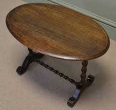 small oval oak antique coffee table c 1920 united kingdom from