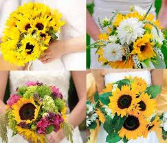 Sunflower Bouquets Sunflower Wedding Flowers Archives Happyinvitation Com