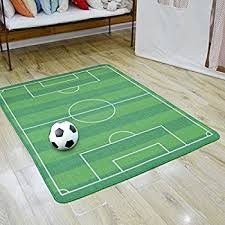 Green Kids Rug Amazon Com All Stars Soccer Ground Rug Kids Rug Boys Children U0027s