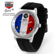 German British Flag Gt Watch Top Brand Sport Watch Men Silicone Strap Quartz Watch