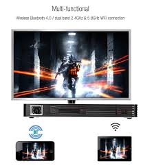 home theater connection toumei c800i dlp pocket projector android 854 x 480 1080p 2 4g 5 8