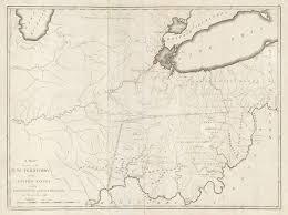 Greenville Ohio Map by Samuel Lewis U0027 Landmark Map Of The Northwest Territory Rare