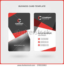 Flat Design Business Card Business Card Templates Stationery Design Vector Stock Vector