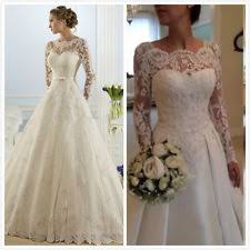 white dress for wedding lace sleeve wedding dress ebay
