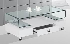 White Gloss Side Table Fascinating Glass And White Coffee Table U2013 Glass Top Coffee Table